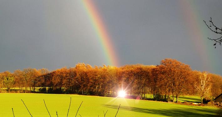 Am Ende des Regebogens ist ein Goldschatz