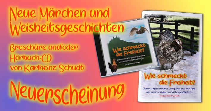 Hörbuch und Broschüre - Wie schmeckt die Freiheit